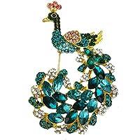 Carreor, spilla con ciondolo a forma di pavone, con ciondolo a forma di uccello, per matrimoni, banchetti, bouquet