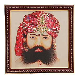 Hand Embroidered Royal Wall Frame/ Art (INDIAN TRADITIONAL TURBAN)