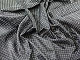 Geometrische gemustert Viskose Futter Kleid Stoff schwarz