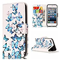 BONROY Case,Apple iPod Touch 5/6 Flip Leather Case, Shockproof Bumper Cover and Premium Wallet Case for Apple iPod Touch 5/6