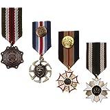 B Baosity 4 Unids Tela De La Raya De Tela Insignia Medalla Broche De Breastpins Uniforme Militar Accesorios De Ropa
