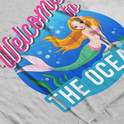 Welcome To The Ocean Mermaid Womens Vest Heather Grey