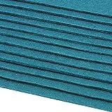 Schnoschi 12 Filzplatten Bastelfilz Filz türkis 2-3 mm