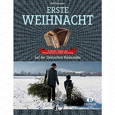 ERSTE WEIHNACHT - arrangiert für Steirische Handharmonika - Diat. Handharmonika - mit CD [Noten/Sheetmusic]