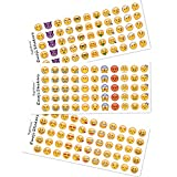 Happy Emoji Stickers 12 Sheets with Same Faces Kids Stickers from iPhone Facebook Twitter