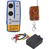 Qiilu Winchkontroll, 12 V 15 fot universell trådlös vinsch fjärrkontroll kontrollkit för bil lastbil