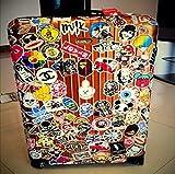 Vinyl-Aufkleber, unsortiert, für Notebook Skateboard Snowboard Gepäck Koffer MacBook Auto Fahrrad Stoßstange, verschiedene Stile, 100 Stück Vergleich