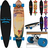 Longboard Komplettboard Cruiser 112 cm 44 Inch ABEC7 Pintail Farbauswahl