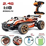 X K Night Remote Control Car / Monster Racing Car , Red & Black