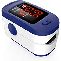 AGPTEK Saturimetro da dito Professionale Portatile Ossimetro con Display OLED Pulsossimetro da Dito per Frequenza Del…