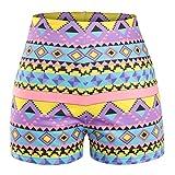 O-C Womens'slim beach shorts Bohemia stylish summer beach pants
