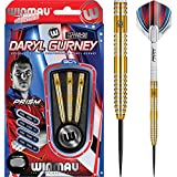 Winmau Daryl Gurney–freccette con punta in acciaio–oro–23g–con freccette angolare Curvy Ballpen