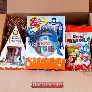 Kinder Surprise Easter Special Batman Pocket Egg Boys Fun Box – Fantastic Batman Surprise Inside! , Mini Mix & Mini Eggs – By Moreton Gifts