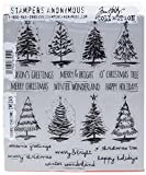 Tim Holtz Cling Stamps 7'X8.5'-Scribbly Christmas