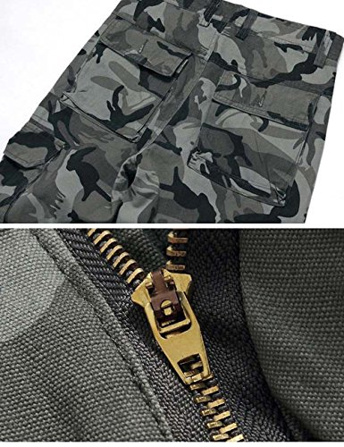 Menschwear Herren Cargo Hosen Freizeit Multi-Taschen Military pantaloni Ripstop Cargo da uomo K8 tarnung 2