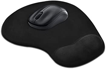 Aironx?Ÿ??? Memory Foam 3D Ergonomically Designed Non-Slip Mouse Pad with Gel Wrist Rest Support for Desktops and Laptops(Black)