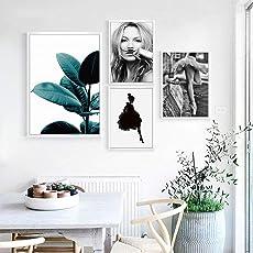 Fenghong Poster Ölgemälde Mädchen Kate Moss Multi-Muster Büro Kunst
