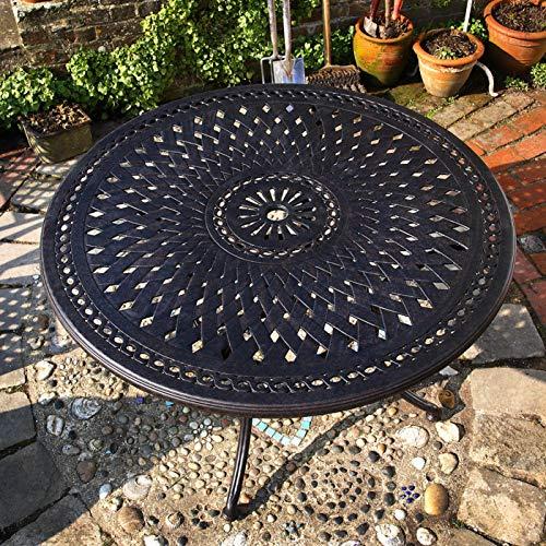 Lazy Susan – ALICE 120 cm Runder Gartentisch mit 4 Stühlen - 3