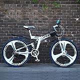 WZB Vélo de Montagne Pliant avec Alliage de magnésium Super léger de 26', Suspension Totale de qualité supérieure et Vitesse Shimano à 21 Vitesses, 10,26'