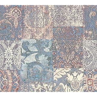 Architects Paper Vliestapete Luxury Classics Tapete Luxustapete Ethno Look 10,05 m x 0,53 m blau creme lila Made in Germany 343743 34374-3