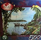 "Serendipity 550 Pc Puzzle ""Down By The Water"" Artist Alan Giana"