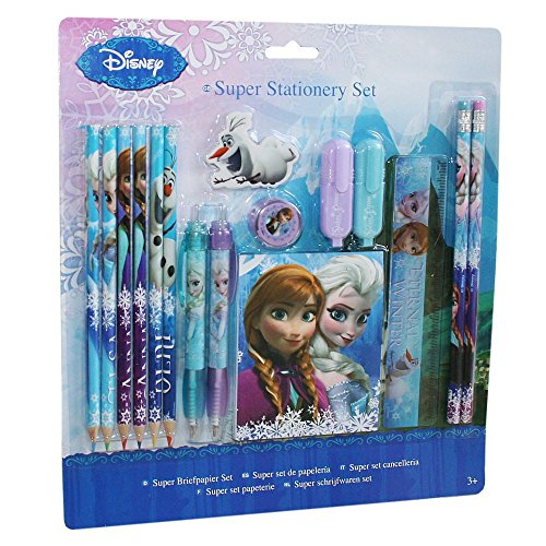 La Reine des Neiges - Disney Frozen - XXL Pen Set - Set Papeterie 15 parties