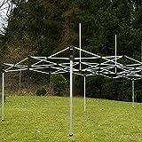 Falt-Pavillon Partyzelt mit Seitenteilen solide Ausführung für Garten Terrasse Feier Markt als Unterstand Plane wasserdichtes Dach  270/m² 3 x 6 m grün Test