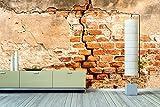 WandbilderXXL® Vlies Fototapete Ziegelmauer 420x280cm - hochwertige Tapete in 6 verschiedenen Größen für Wohnzimmer oder Büro - Foto Tapete - Qualität von Wandbilder XXL