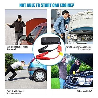 613ncttqUCL. SS416  - Maxesla Jump Starter Batería Portátil de Emergencia para coche, Arrancador de Coche 14000mAh, 400A Jump Starter Cargador de 12V Batería Para Vehículo (Batería Externa, LED, Pantalla LCD,Arranque Kit Para Coche)