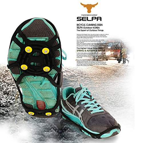 6 Studded Anti-Slip Ice Grip Spike Winter Walking Sports Overshoes Shoes Cover Winter Overshoe