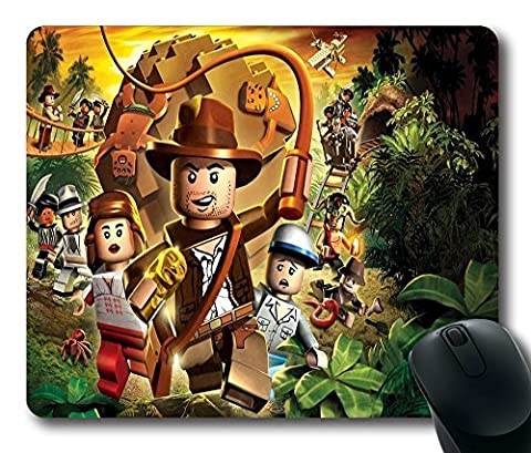 Personalized Indiana Jones Lego figurines Custom Standard Rectangle Mouse Pad Oblong Gaming Mousepad in 220mm*180mm*3mm (9