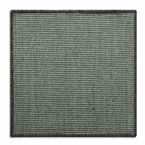 Floori® Sisal Kratzteppich | Naturfaser: nachhaltig und umweltfreundlich | Kratzmatte für die Krallenpflege Ihrer Katze | Grau Khaki, 60x80cm