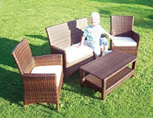 rattan kindersitzgruppe kinder sitzgruppe garten neu baby. Black Bedroom Furniture Sets. Home Design Ideas