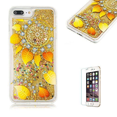 custodia-per-iphone-7-plus-cover-in-silicone-morbidafunyye-brillantini-muovono-liquida-sequin-giallo