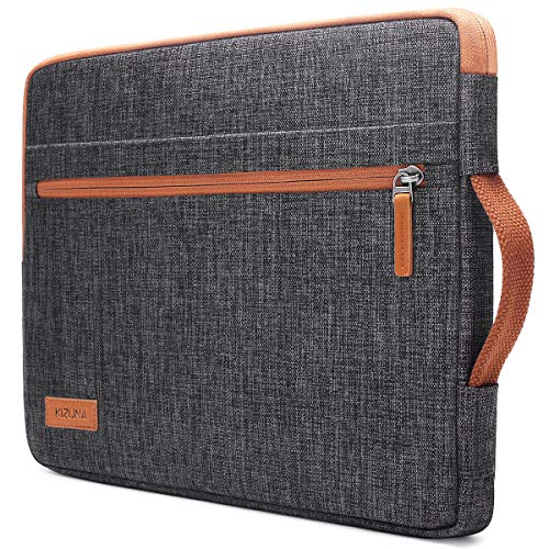 "KIZUNA Laptop Tasche Wasserdicht 13,3 Zoll Hülle Sleeve Für 13"" MacBook Air/13.5\"" Surface Book 2/13.9\"" Lenovo Yoga C930/14 ThinkPad X1 Carbon/Flex 14/HP EliteBook 840 G5/Huawei MateBook D/ASUS, Braun"