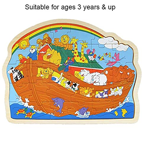 BEAUTIFUL BEGINNINGS Noahs Ark Wooden Puzzle