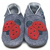 Inch Blue  slipper, Chaussons pour fille - Gris - Denim / Red, 2-3 Years