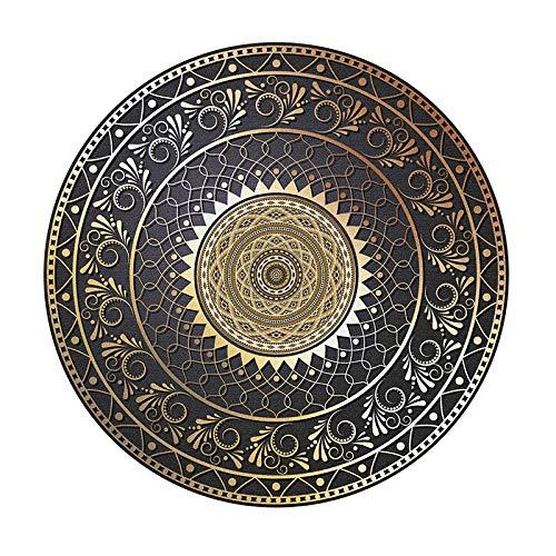 HAIJN Mandala Alfombra Redonda Alfombra Moderna Alfombras Alfombras Salon Grandes Antideslizante 4 Tamaños