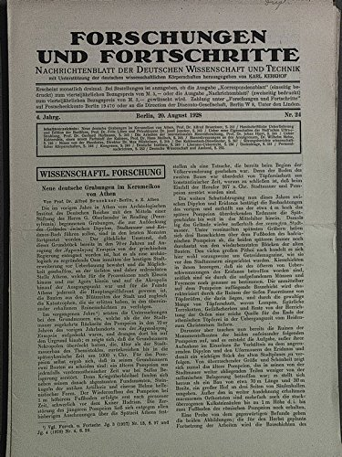Rassenkreuzungen an den Arealgrenzen, in: FORSCHUNGEN UND FORTSCHRITTE, Nr. 24, 20. August 1928.