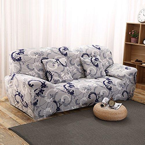 Sundlight housse de canapé extensible pour maison bureau hôtel restaurant (3 places 195-230 cm, C)
