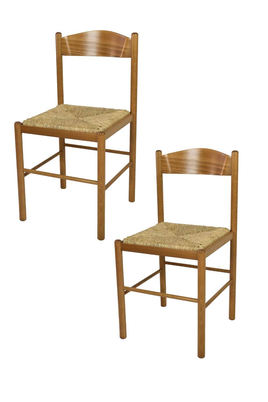 Sedie In Rovere Per Cucina.Tommychairs Set 2 Sedie Classiche Pisa 38 Per Cucina Bar E Sala Da Pranzo Con Robusta Struttura In Legno Di Faggio Verniciato Color Rovere E Seduta