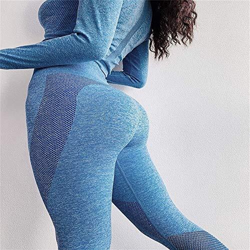 LAOBIAOZI Mujeres Yoga Set Leggings Sin Costuras +