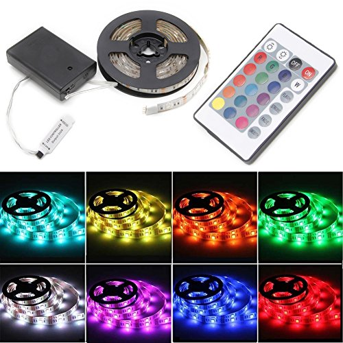 Cold Toy RGB 100 cm 5050 tira impermeable flexible lámpara LED Luz + 24 teclas Mando a distancia
