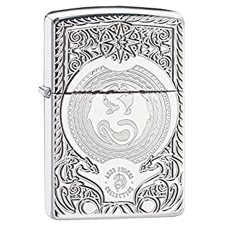 Zippo Anne Stokes Armor Windproof Lighter - High Polished Chrome