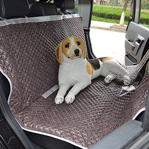 Anself Hunde Autoschondecke Auto Hundedecke Hängematte mit Betrachtungsfenster für Auto Van SUV 147x137cm