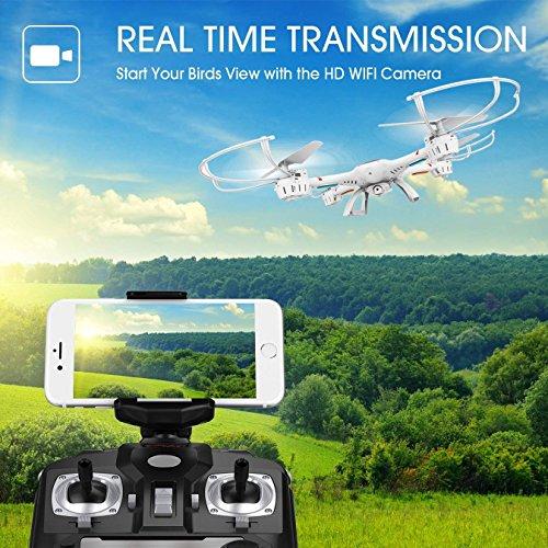DBPOWER MJX X400W FPV Drohne mit WLAN Kamera Zurückkehrfunktion, Quadcopter mit Kopflosmodus für Kinder und Anfänger - 5