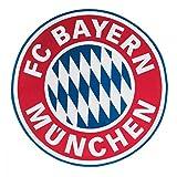 München FC Bayern Aufnäher, Patch Logo FCB groß - Plus Gratis Lesezeichen I Love