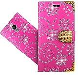FoneExpert® Wiko Robby Handy Tasche, Bling Luxus Diamant Wallet Case Flip Cover Hüllen Etui Hülle Ledertasche Lederhülle Schutzhülle Für Wiko Robby
