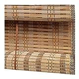 ZEMIN Bambus Raffrollo Bambusrollo Fenster Vorhang Retro Anti-UV Anhebbar, 2 Stile, 30 Größen Anpassbare (Farbe : B, größe : 100x180cm)