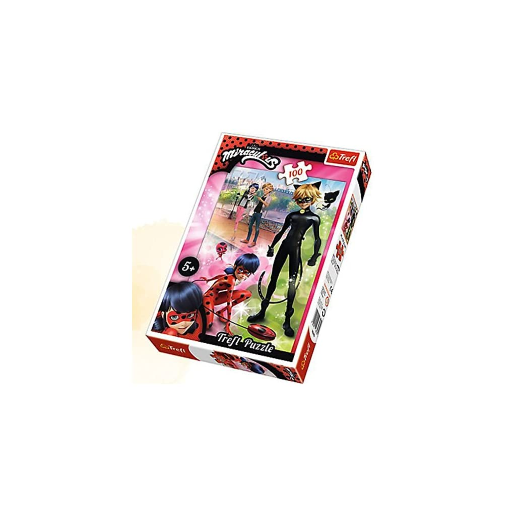 Puzzle 100 Przygody Ladybug i Cat Noir
